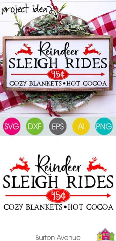 Reindeer Sleigh Rides – Limited Time Free SVG File
