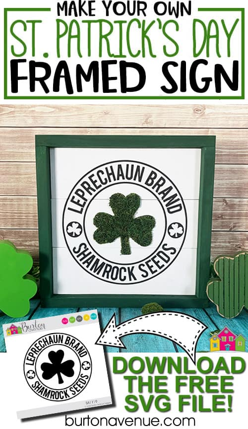 DIY Framed St. Patrick's Day Sign