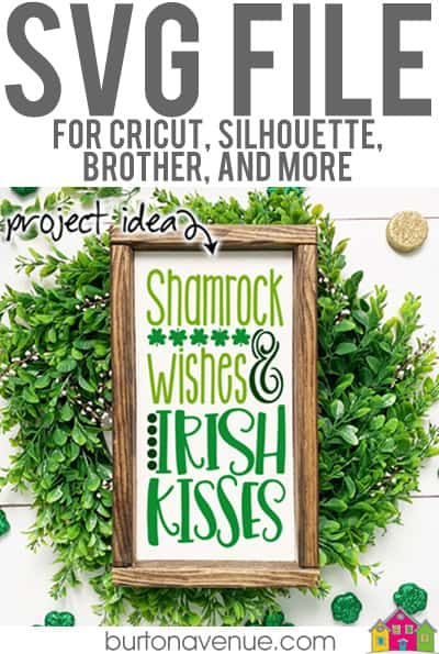 This free SVG file will be available to download for free until 2/28/19. So many possibilities of DIY projects with this Free Shamrock Wishes & Irish Kisses SVG. Make signs, pillows, t-shirts and more with this Free Shamrock Wishes & Irish Kisses SVG file. Free Ai, SVG, PNG, EPS & DXF download. Free Shamrock Wishes & Irish Kisses SVG files works with Cricut, Cameo Silhouette and other major cutting machines. #stpatrickssilhouette #stpatrickscircut #stpatrickssvg #silhouette #cricutexplore