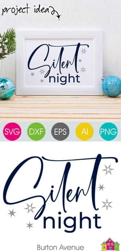 Silent Night SVG File