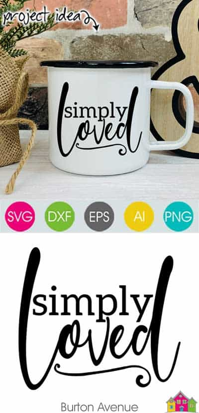 Simply Loved SVG File