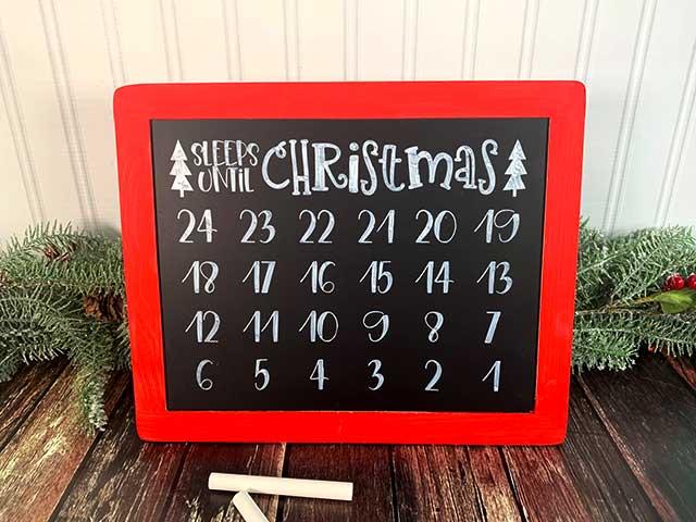 Holiday Countdown Chalkboard Plaque Sign Days Sleeps Until Honeymoon Hen Night