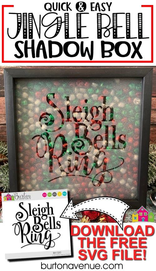 DIY Jingle Bell Shadow Box