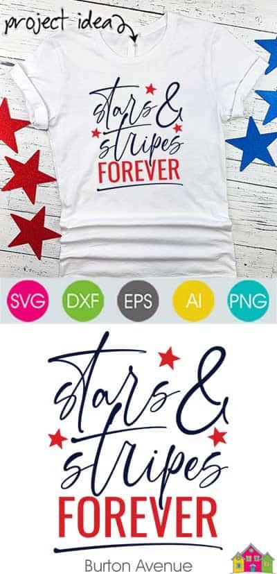 Stars & Stripes Forever SVG File