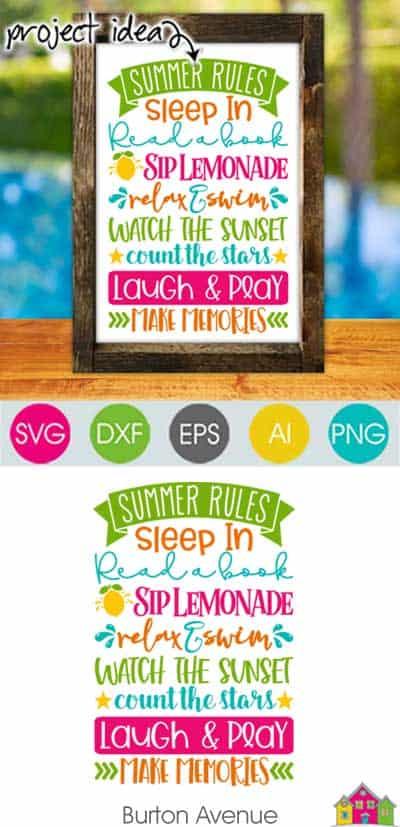 Summer Rules SVG File