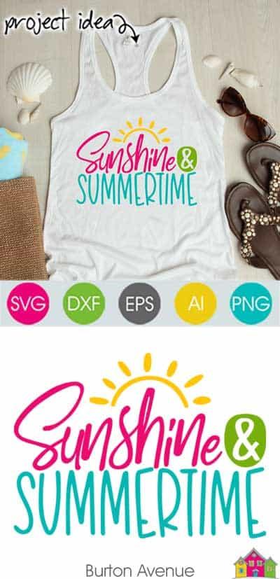 Sunshine & Summertime SVG File