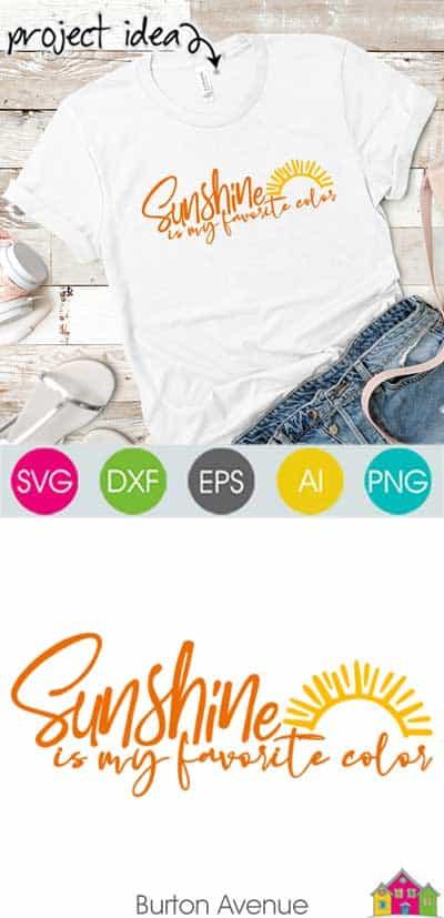 Sunshine is my Favorite Color SVG File