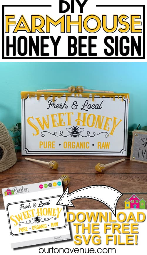 DIY Wood Honey Bee Sign for Silhouette & Cricut