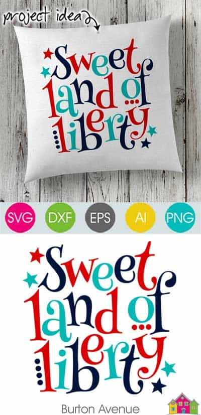 Sweet Land of Liberty – Limited Time Free SVG File
