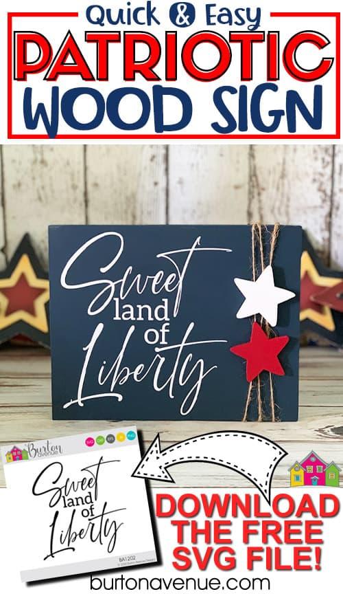 Quick & Easy Patriotic Sign for Silhouette & Cricut