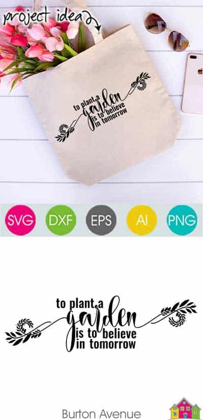 To Plant a Garden SVG File
