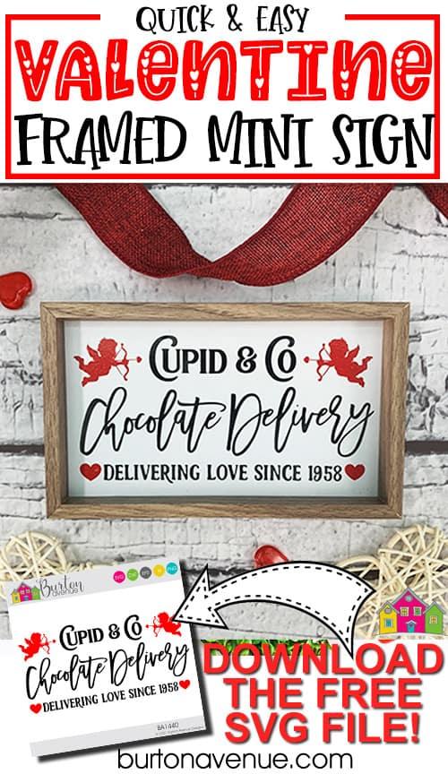 Quick & Easy Framed Mini Valentine's Day Sign