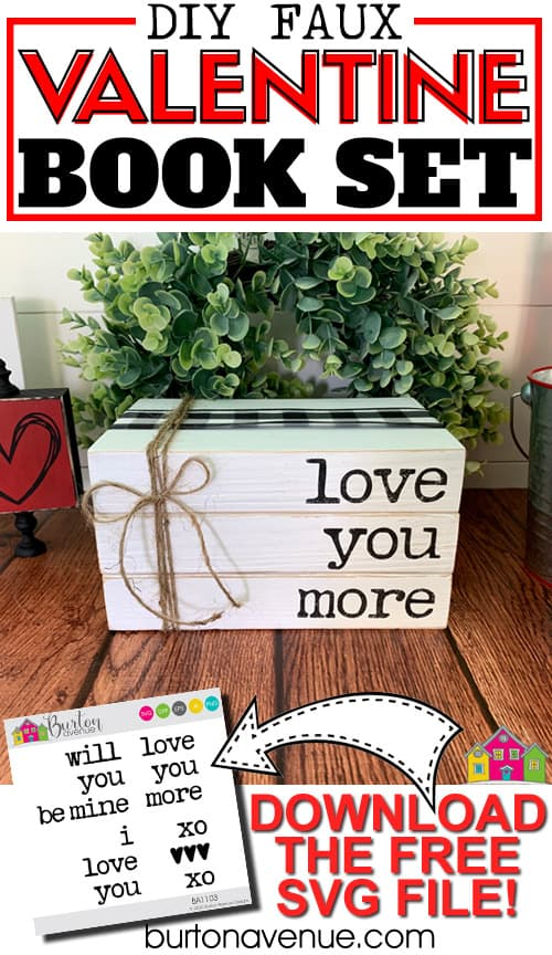 DIY Faux Valentine Book Set