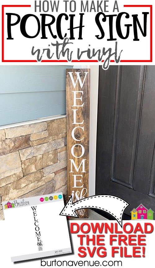 DIY Porch Sign with Vinyl