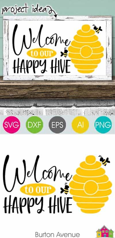 Welcome to our Happy Hive SVG File