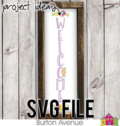 This free SVG file will be available to download for free until 3/26/19. Use this Welcome with Flowers Vertical spring SVG file to create spring projects with your silhouette or cricut machine. So many possibilities of DIY projects with this Free Welcome with Flowers Vertical SVG. Make signs, pillows, t-shirts and more with this Welcome with Flowers Vertical SVG file. Free Ai, SVG, PNG, EPS & DXF download. Free Welcome with Flowers Vertical SVG files works with Cricut, Cameo Silhouette and other major cutting machines. #springsilhouette #springdaycircut #springdaysvg #silhouette #cricutexplore