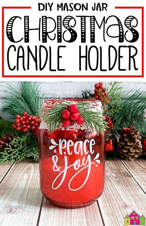 Christmas Mason Jar Candle Holder