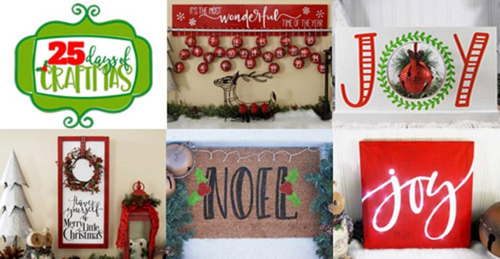 25 Christmas projects you can make with your Silhouette, Cricut, Brother or other electronic cutting machine. Every project includes a free Christmas SVG file so you can make the project at home. Christmas Silhouette Projects are great for gifts, home decor and more. Christmas Cricut Projects are great for gifts, home decor and more. #ChristmasSilhouette #ChristmasCricut #ChristmasSVG