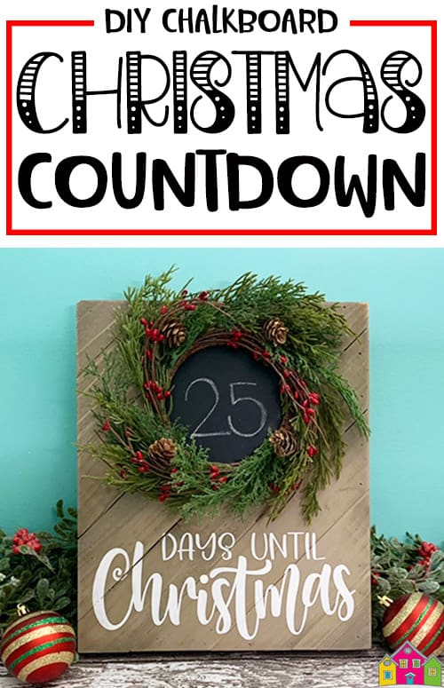 Chalkboard Christmas Countdown Pallet Sign