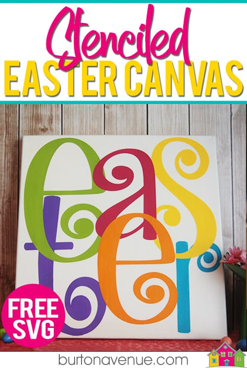 Make your own Easter Canvas with your Silhouette, Cricut, or Brother Cutting Machine. This Easter project is quick and easy and makes a great decoration for your home. #eastersilhouetteprojects #easterprojects #easterbrotherprojects
