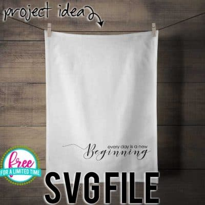 So many possibilities of DIY projects with this Free Every Day is a new Beginning SVG. Make signs, pillows, t-shirts and more with this Free Every Day is a new Beginning SVG file. Free Ai, SVG, PNG, EPS & DXF download. Free Every Day is a new Beginning SVG files works with Cricut, Cameo Silhouette and other major cutting machines. #newyearsvg #newyearcricut #newyearsilhouette #newyearsvg #motivationalsvg #silhouette #cricutexplore