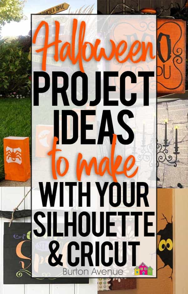 Silhouette and Cricut Halloween project ideas. A big list of quick and easy Halloween project ideas to make with your Silhouette or Cricut. These Halloween crafts and projects are perfect to make your Halloween Spooktacular.