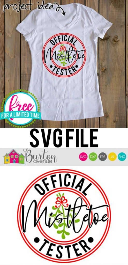 So many possibilities of DIY projects with this Free Official Mistletoe Tester SVG. Make signs, pillows, t-shirts and more for Christmas with this Free Official Mistletoe Tester SVG file . Free Ai, SVG, PNG, EPS & DXF download. Free Official Mistletoe Tester SVG files works with Cricut, Cameo Silhouette and other major cutting machines. #christmassvg #christmasrcricut #christmassilhouette #christmassvg #silhouette #cricutexplore