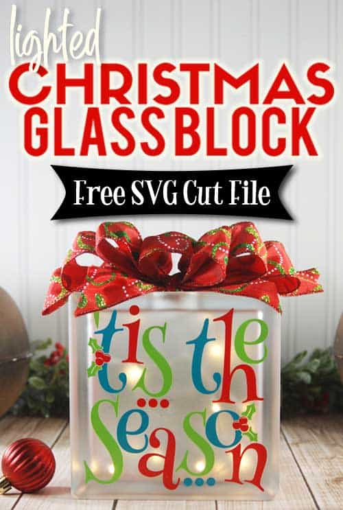 Make this cute Lighted Glass Block for Christmas sign with this easy to follow tutorial. With a few supplies and your Silhouette or Cricut machine, you'll be able to create theis Lighted Christmas Glass Block for your home. This DIY project is easy and quick to make and is the perfect decoration for home. #ChristmasSilhouette #ChristmasCricut #ChristmasSVG