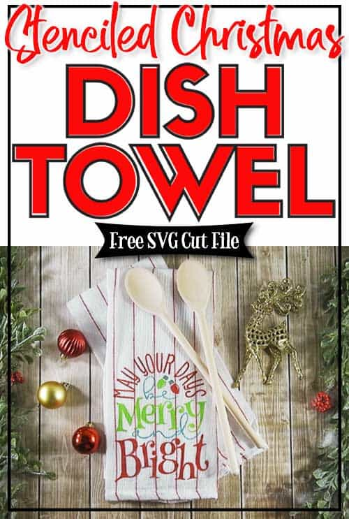 Stenciled Christmas Dish Towel Burton Avenue
