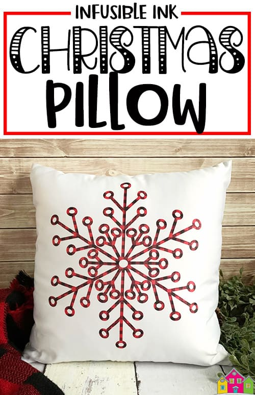 Infusible Ink Christmas Pillow