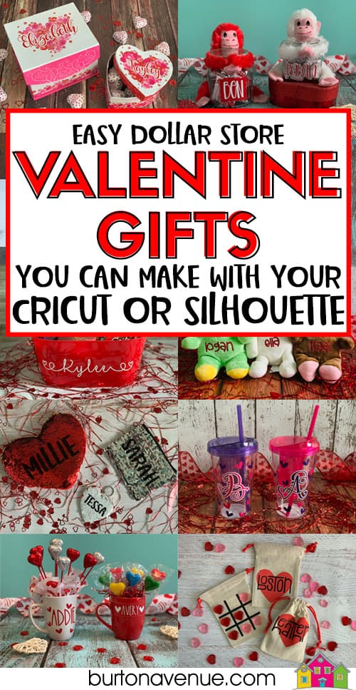 Easy Valentine Gifts you can Make and Personalize with your Cricut or Silhouette