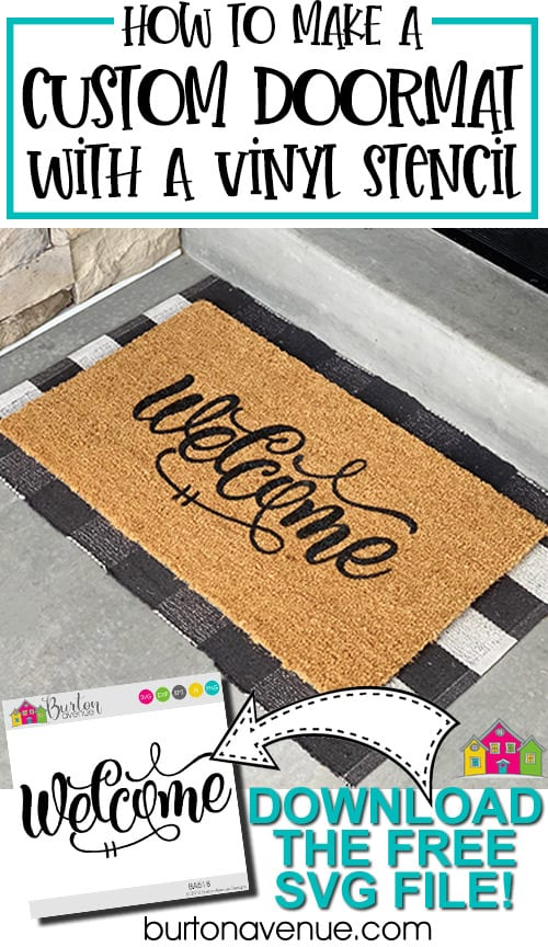 How to Make a Custom Doormat with a Vinyl Stencil
